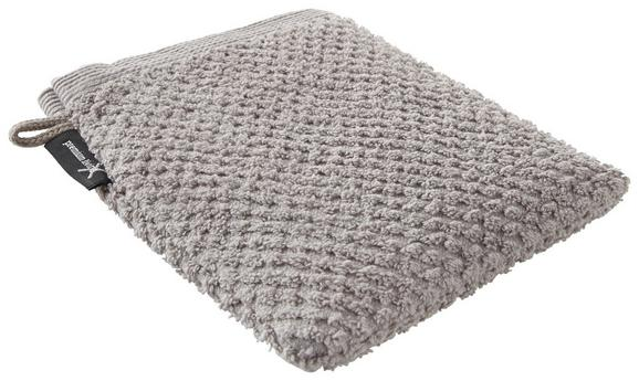 Waschhandschuh Juliane Taupe - Taupe, Textil (16/21cm) - PREMIUM LIVING