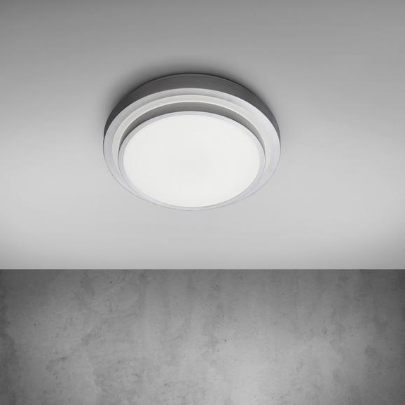 LED-Deckenleuchte Dana - Alufarben/Weiß, MODERN, Kunststoff/Metall (29/29/8,5cm) - MÖMAX modern living
