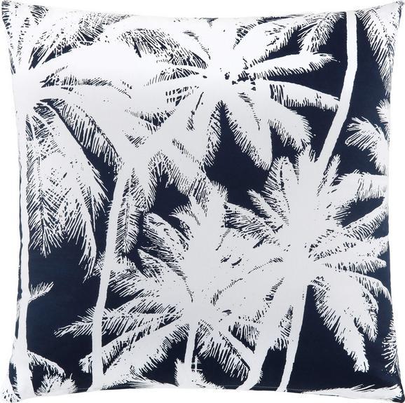 Zierkissen Palm Tree ca. 45x45cm - Blau/Weiß, LIFESTYLE, Textil (45/45cm) - Mömax modern living