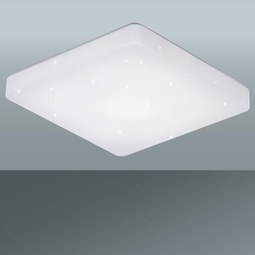 Stropna Led-svetilka Starlight - bela, Moderno, umetna masa (37/37/7,5cm)