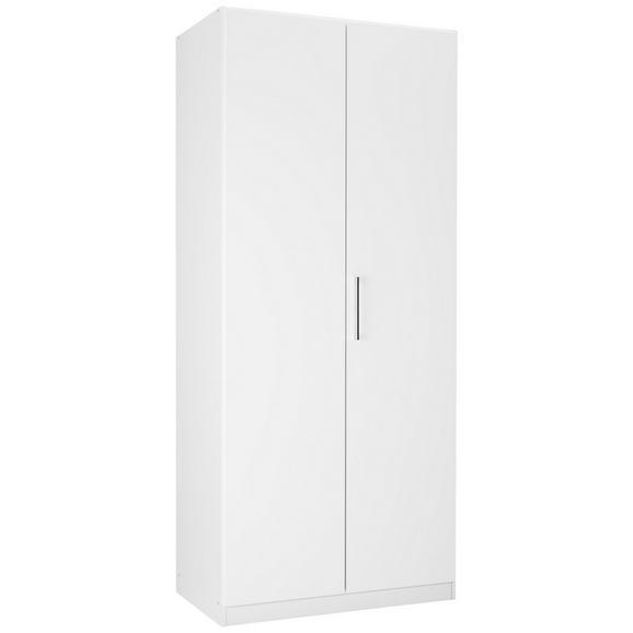 Drehtürenschrank in Weiß - KONVENTIONELL, Holzwerkstoff (91/210/54cm) - Modern Living