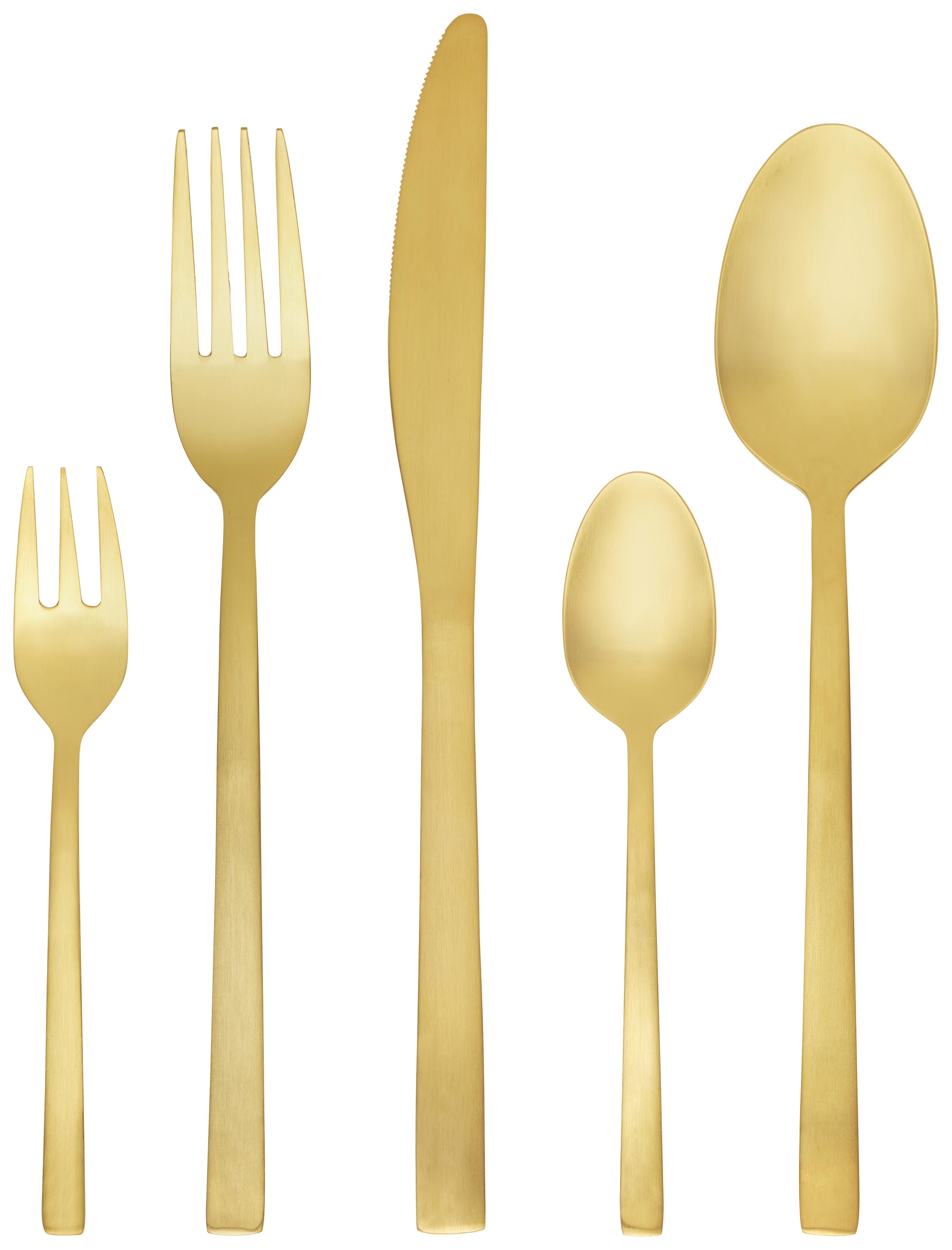 Mattes Besteckset In Gold Jetzt Online Bestellen