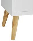 Kommode Valentina - Weiß/Pinienfarben, MODERN, Holz (85/89,5/35cm) - Modern Living