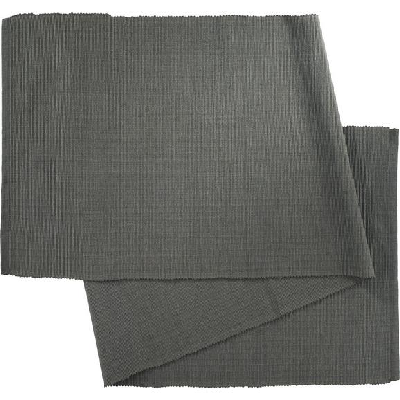 Tischläufer Maren Anthrazit - Anthrazit, Textil (40X/150cm) - Mömax modern living