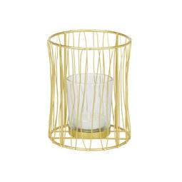 Teelichthalter Macius Gold - Goldfarben, Design, Metall (9,5/12cm)