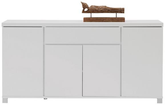 Sideboard Weiß Hochglanz - Alufarben/Weiß, MODERN, Holzwerkstoff/Metall (193/97/40cm) - Mömax modern living