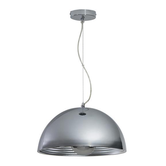 Pendelleuchte Isa - Chromfarben/Silberfarben, MODERN, Metall (40/40/130cm) - Bessagi Home