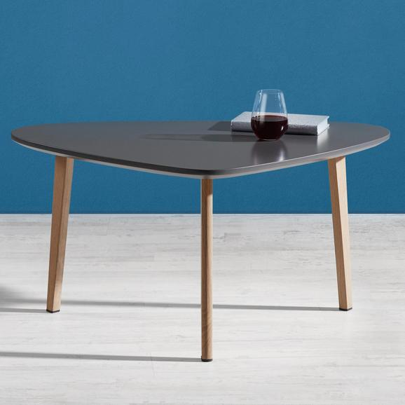 Couchtisch Kimi 90x60 cm - Naturfarben/Grau, MODERN, Holz/Metall (60/90/45cm) - MÖMAX modern living