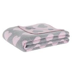 Kuscheldecke Hearts Rosa/Grau - Rosa/Grau, ROMANTIK / LANDHAUS, Textil (130/170cm) - Mömax modern living