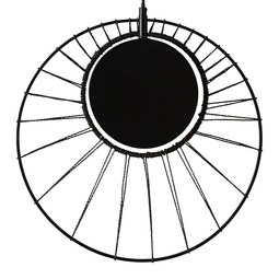 Hängeleuchte Sun max. 60 Watt - Schwarz, LIFESTYLE, Metall (41/164,5cm) - Modern Living