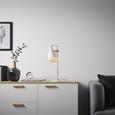 Tischleuchte max. 40 Watt 'Emilia' - Weiß/Kupferfarben, MODERN, Metall (22/16/46cm) - Bessagi Home