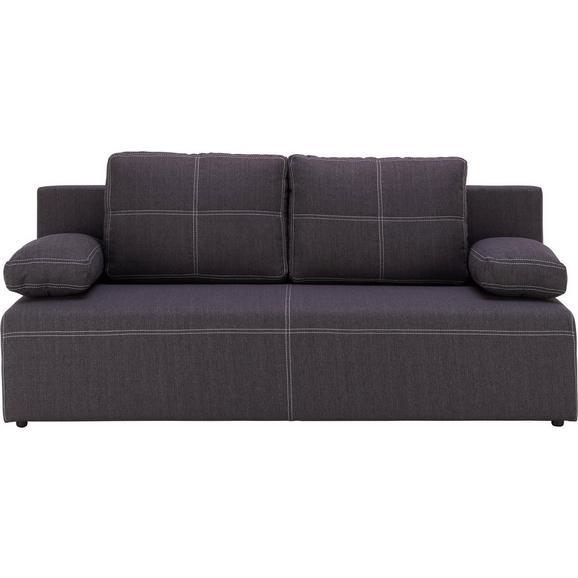 Sofa München - bijela/crna, Konventionell, tekstil/plastika (202/88/84cm) - Mömax modern living