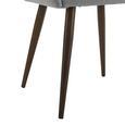 Armlehnstuhl in Hellgrau 'Nicola' - Dunkelbraun/Hellgrau, MODERN, Holz/Textil (58/82,5/61,5cm) - Bessagi Home