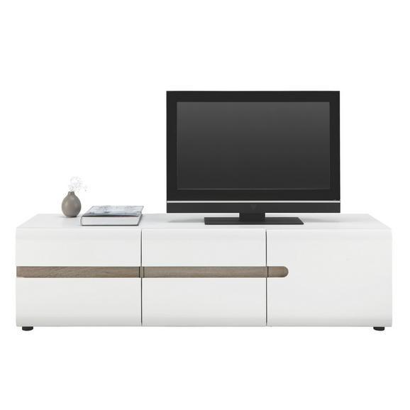 Tv-element Linate - črna/bela, Moderno, umetna masa/leseni material (164/46/42cm) - Mömax modern living