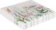 Serviette Botanica in Bunt - Multicolor/Weiß, Papier (33/33cm)