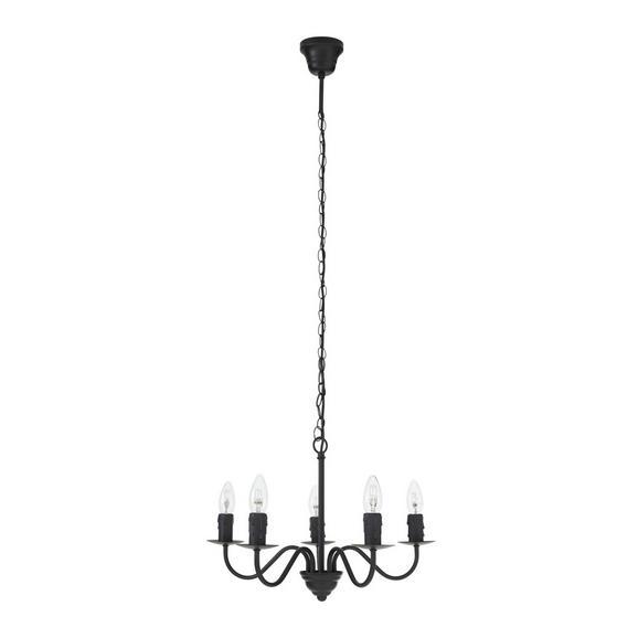 Hängeleuchte Klara, max. 5x40 Watt - Schwarz, ROMANTIK / LANDHAUS, Metall (50/95cm) - Mömax modern living
