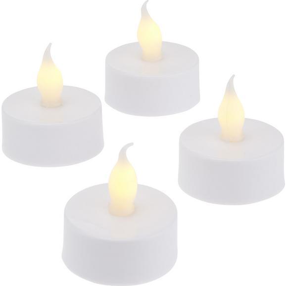 Lumânare Cu Led Bright-Kma - alb, plastic (3,8/3,8cm) - Modern Living