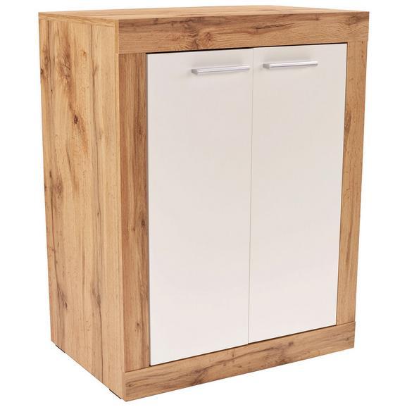 Komoda Living - aluminij/bela, Moderno, umetna masa/leseni material (74/83/37cm) - Mömax modern living