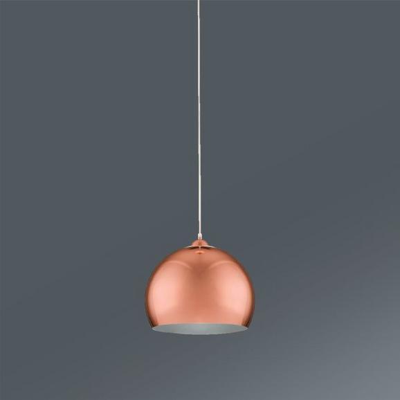 Hängeleuchte Konrad Kupfer max. 60 Watt - Kupferfarben, MODERN, Kunststoff/Metall (30/30/150cm) - Mömax modern living