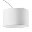 Stehleuchte Maddison - Weiß, MODERN, Textil/Metall (40/187/40cm) - Modern Living