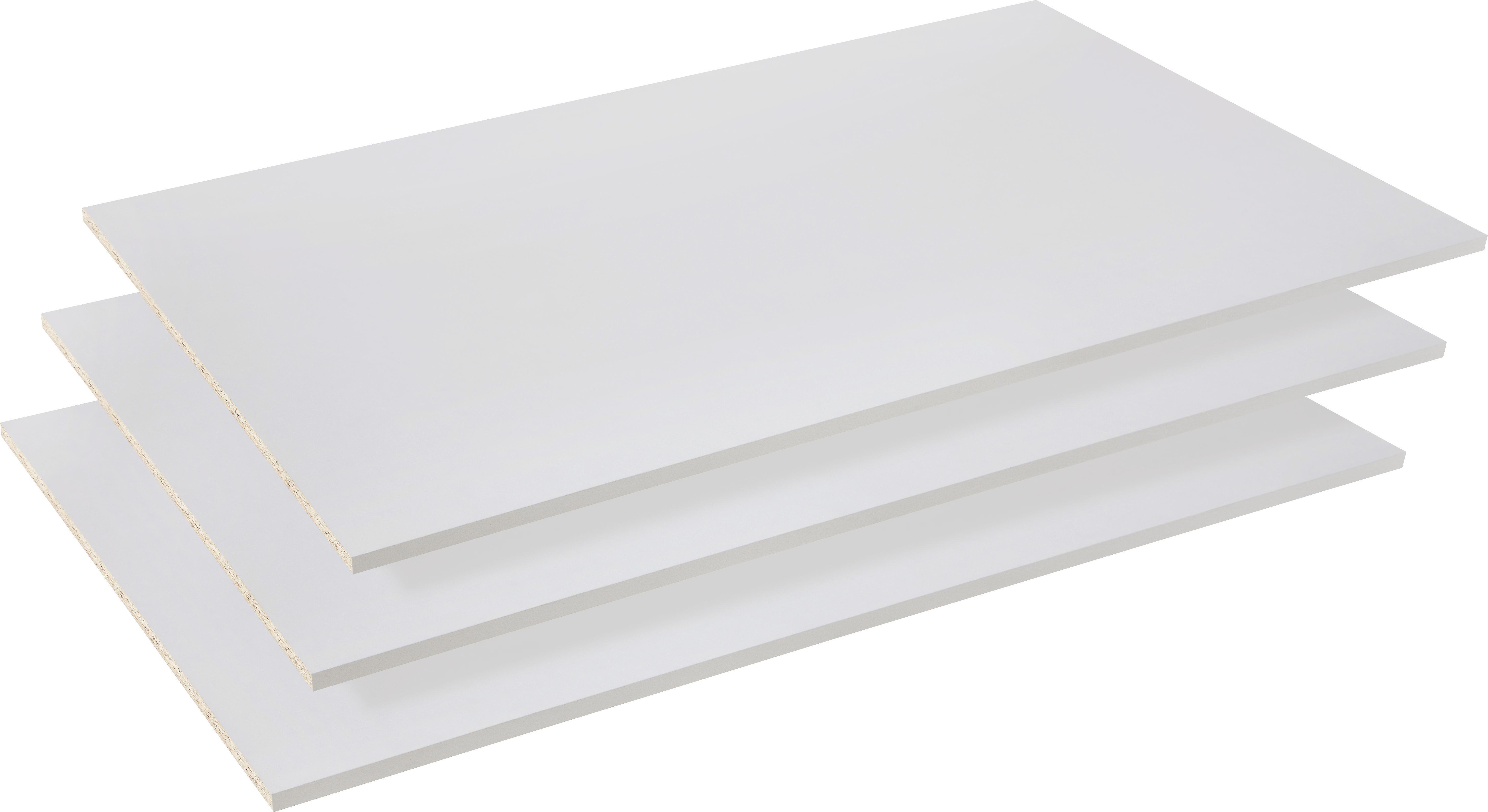 Einlegeboden in Grau aus Holz/metall - Grau, Holz/Metall (83/42/1,5cm)