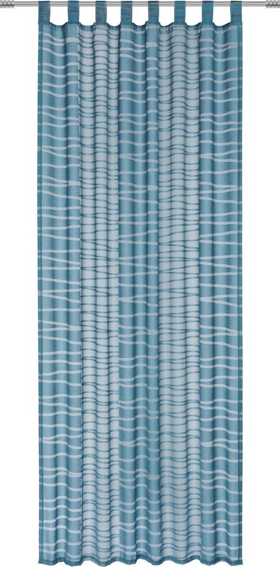 Zavesa Z Zankami Ivan - 2-delni Set - petrolej, Moderno, tekstil (140/245cm) - Mömax modern living