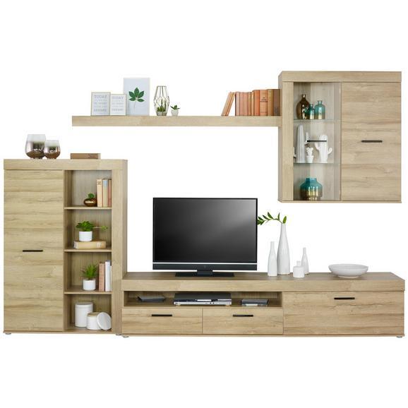 Regal Za Dnevni Boravak Sofia - boje hrasta/svijetlo siva, Konventionell, staklo/drvni materijal (300/200,9/41cm) - Mömax modern living