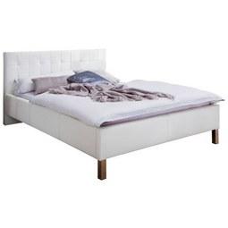 Oblazinjena Postelja Cristallo - bela/krom, Konvencionalno, tekstil (180/200cm) - Modern Living