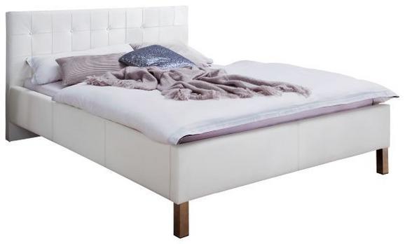 Polsterbett Weiß 160x200cm - Chromfarben/Weiß, KONVENTIONELL, Textil (160/200cm) - MODERN LIVING