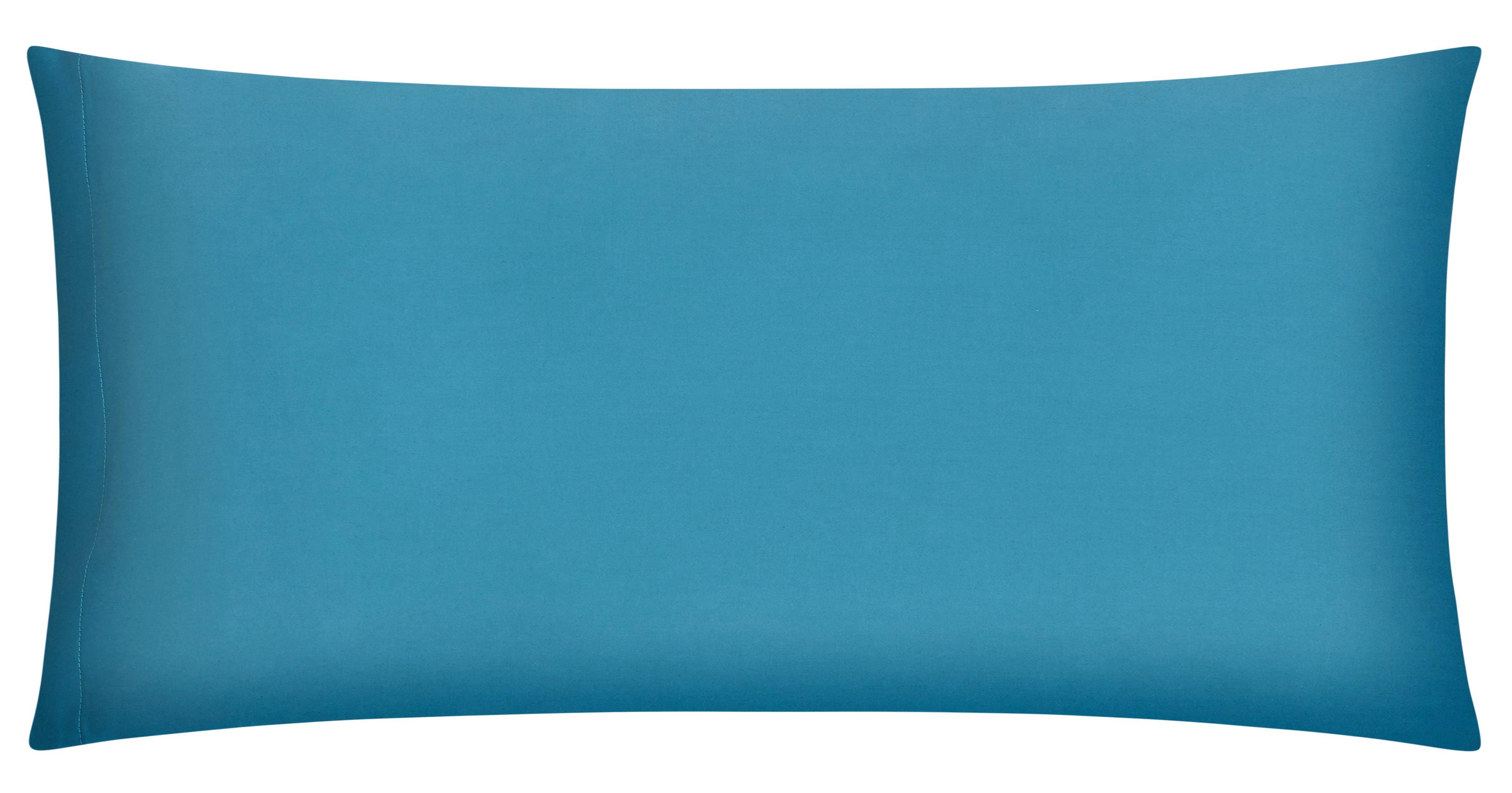 Kissenhülle Belinda, ca. 40x80cm - Türkis/Petrol, Textil (40/80cm) - PREMIUM LIVING