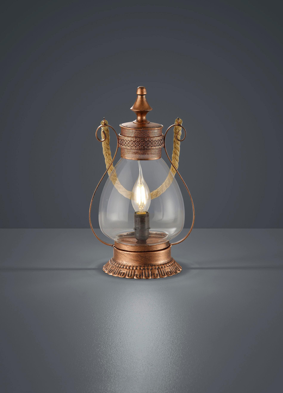 Asztali Lámpa Linda - réz színek, fém (18/32,5cm)