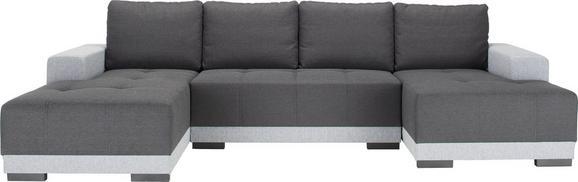 Sedežna Garnitura Lorenzo U - temno siva/črna, Moderno, umetna masa/tekstil (328/86/165cm) - Modern Living