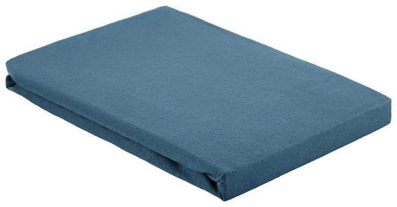 Spannleintuch Basic Dunkelblau 100x200 cm - Dunkelblau, Textil (100/200cm) - Mömax modern living