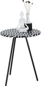 Kisasztal Ricko   -sb- - fekete/fehér, modern, faanyagok (40/50/40cm)