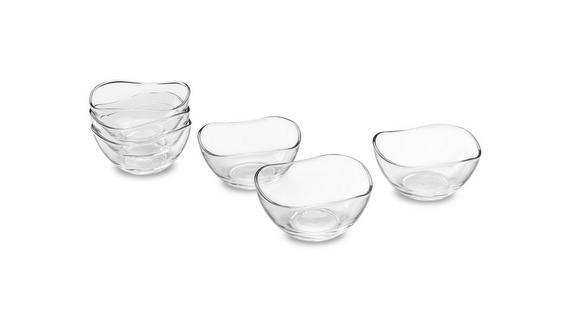 Üvegtál Szett Madeleine - Átlátszó, Üveg (12/6cm) - MÖMAX modern living