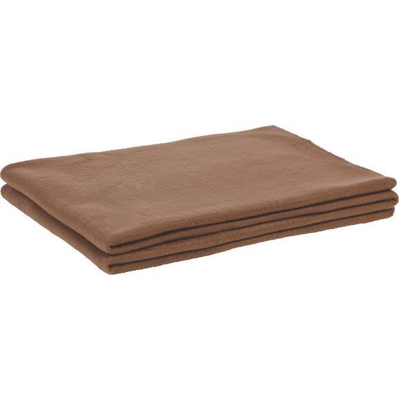 fleecedecke trendix braun 130x180cm online kaufen m max. Black Bedroom Furniture Sets. Home Design Ideas
