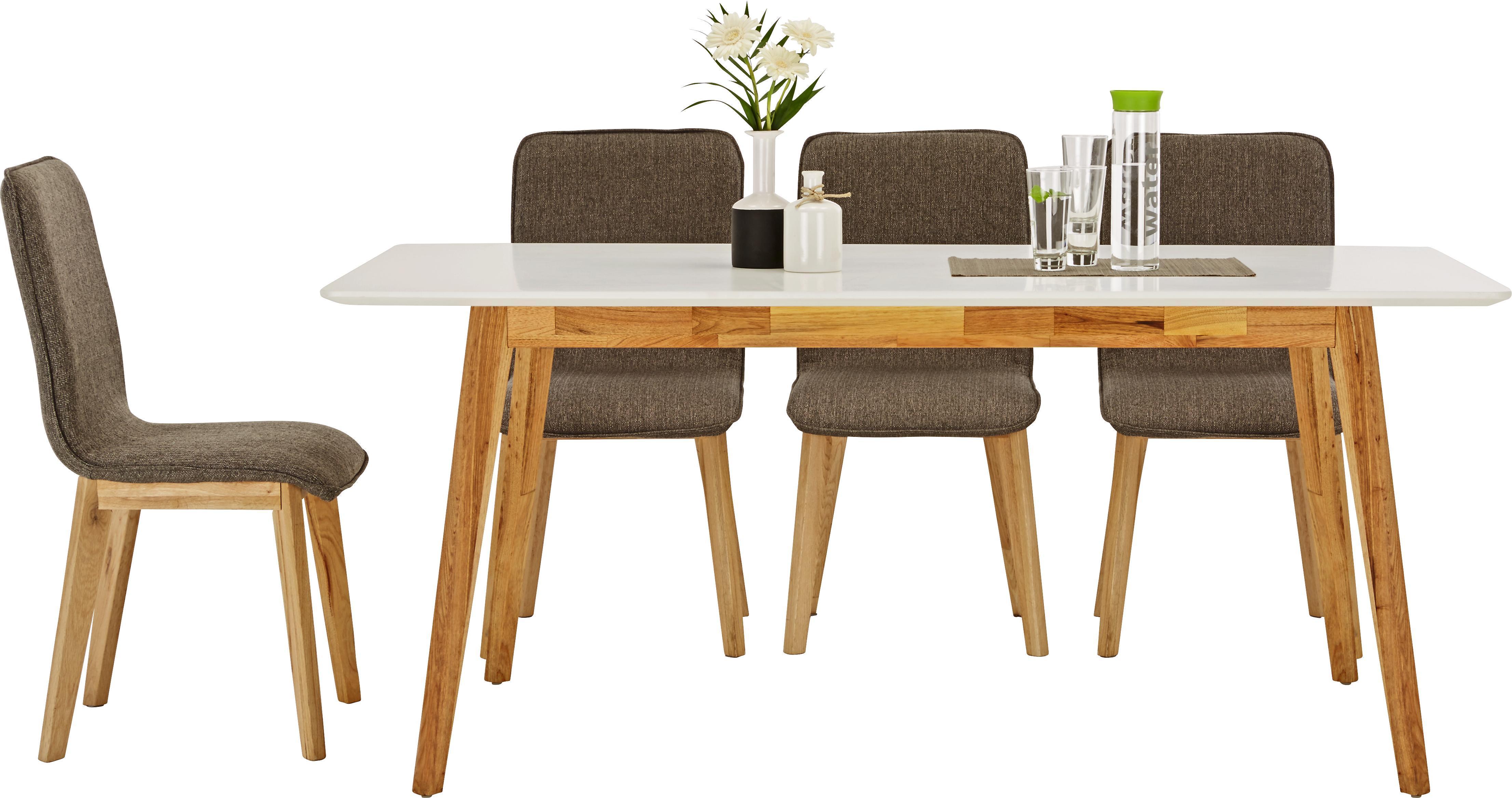 Étkezőasztal Durham - barna/fehér, modern, fa/faanyagok (180/76/90cm) - MÖMAX modern living