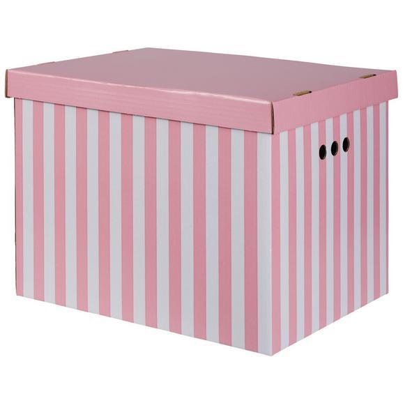 Škatla S Pokrovom Jimmy - roza/bela, karton (42/32/32cm) - Mömax modern living