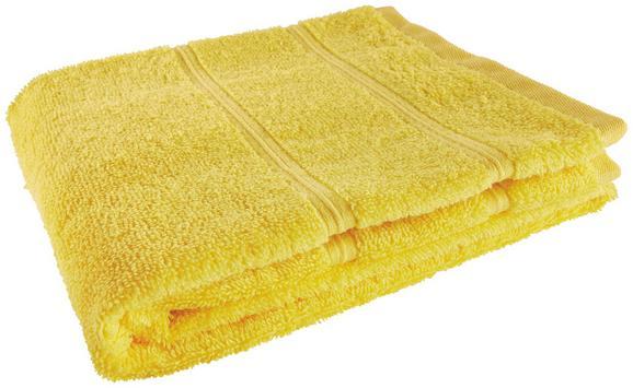 Handtuch Melanie in Gelb - Gelb, Textil (50/100cm)