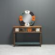 Spiegel London Ø/H ca. 64x2,5 cm - Multicolor, Glas/Holz (64/2,5cm) - Bessagi Home