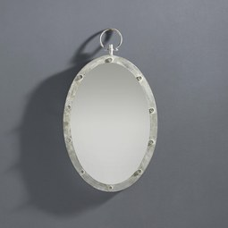 Spiegel Kara ca. 45/70 cm - Silberfarben/Grau, MODERN, Glas/Holzwerkstoff (45/70/4,5cm) - Mömax modern living