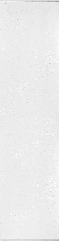 Flächenvorhang Flower in Weiß, ca. 60x245cm - Weiß, MODERN, Textil (60/245cm) - PREMIUM LIVING