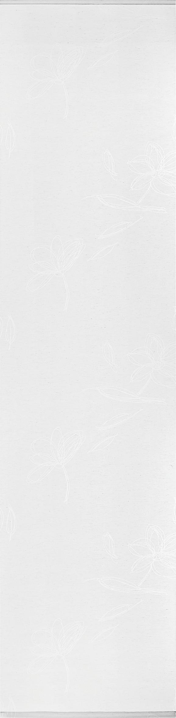 Lapfüggöny Flower - Fehér, modern, Textil (60/245cm) - Premium Living