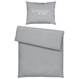 Bettwäsche Namastay in Hellgrau - Hellgrau, Textil (140/200cm) - Mömax modern living