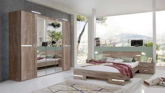 Schlafzimmer Schlammfarben 180x200cm - Schlammfarben, MODERN, Holzwerkstoff (225/210/58cm) - MODERN LIVING