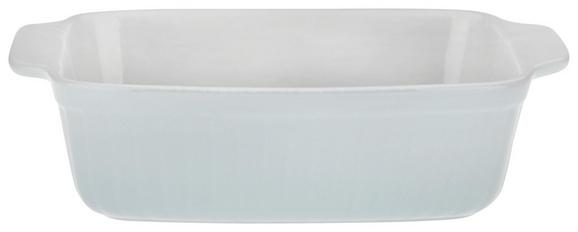 Auflaufform Pura in Mintgrün aus Keramik - Blau, MODERN, Keramik (25,3/6,7/16,4cm)