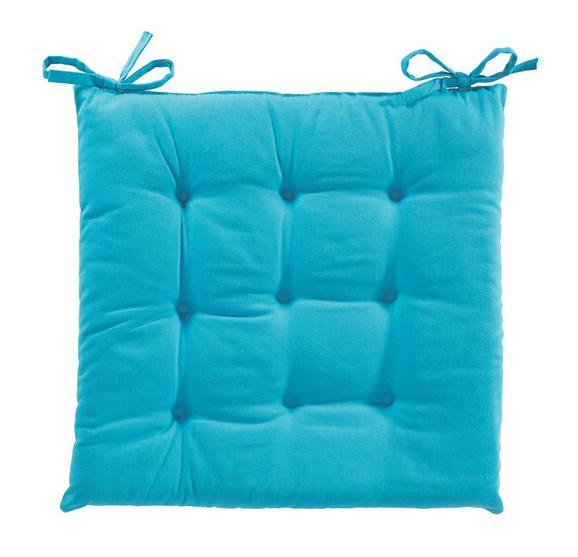PERNĂ ȘEZUT LOLA -BASED- -TOP- - Turcoaz, Material textil (40/40/2cm) - BASED