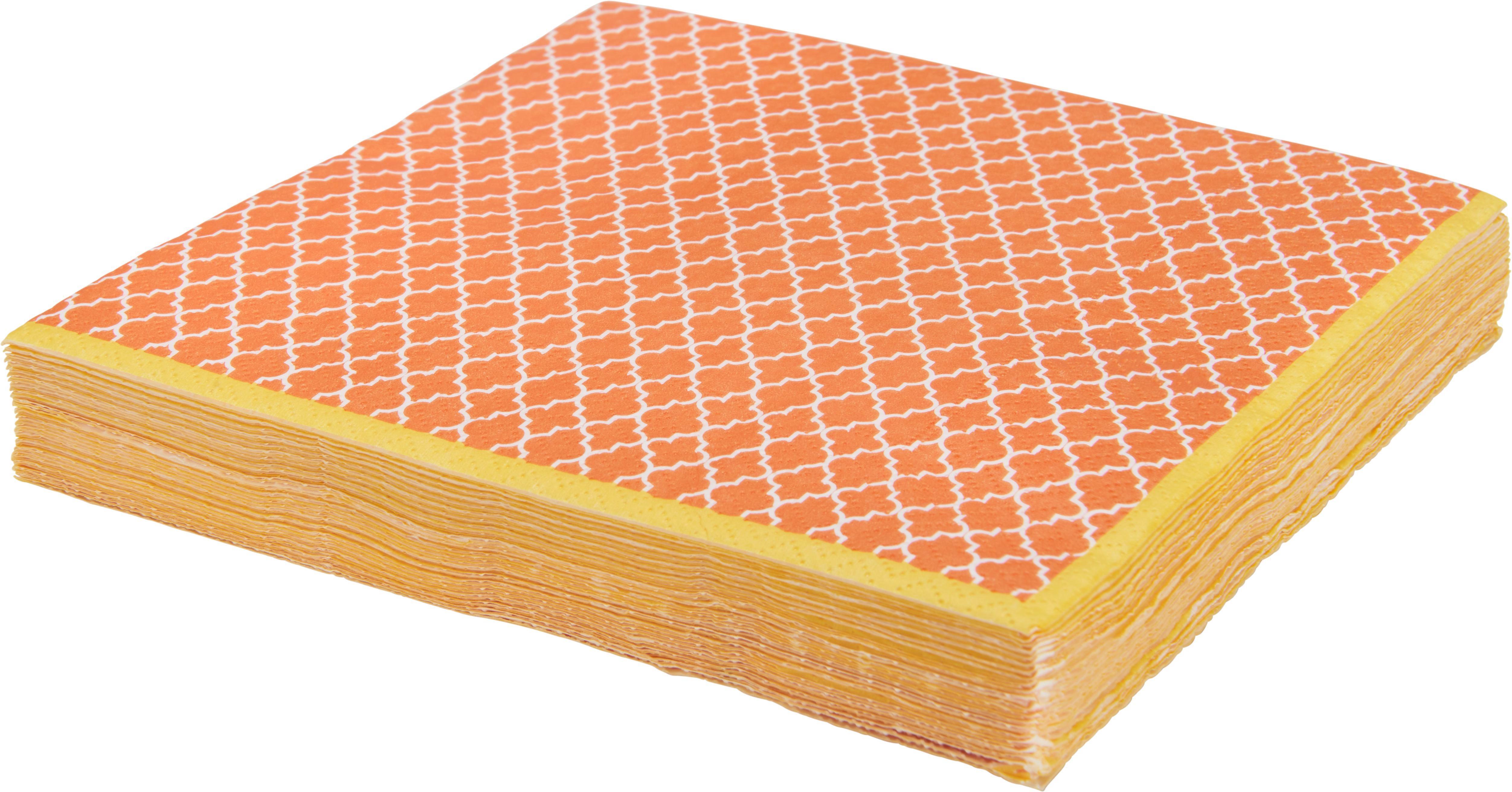 Serviette Sahara 3-lagig in Orange - Orange, LIFESTYLE, Papier (16,5/16,5/2,5cm) - MÖMAX modern living