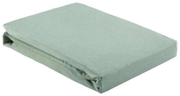 Spannleintuch Basic Hellgrün 150x200 cm - Hellgrün, Textil (150/200/cm) - Mömax modern living