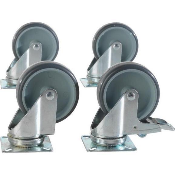Möbelrollen aus Metall 4-teilig - MODERN, Metall (1/1/1cm) - Mömax modern living